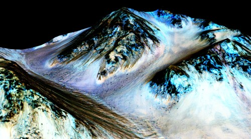 NASA Confirms Evidence That Liquid Water Flows on Today's Mars